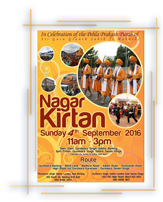 Nagar Kirtan in Seven Kings